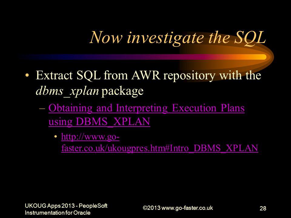Now investigate the SQL