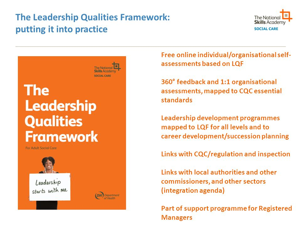 The Leadership Qualities Framework: putting it into practice