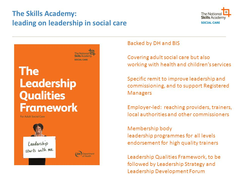 The Skills Academy: leading on leadership in social care