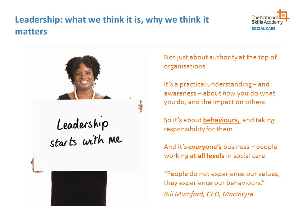 Leadership: what we think it is, why we think it matters