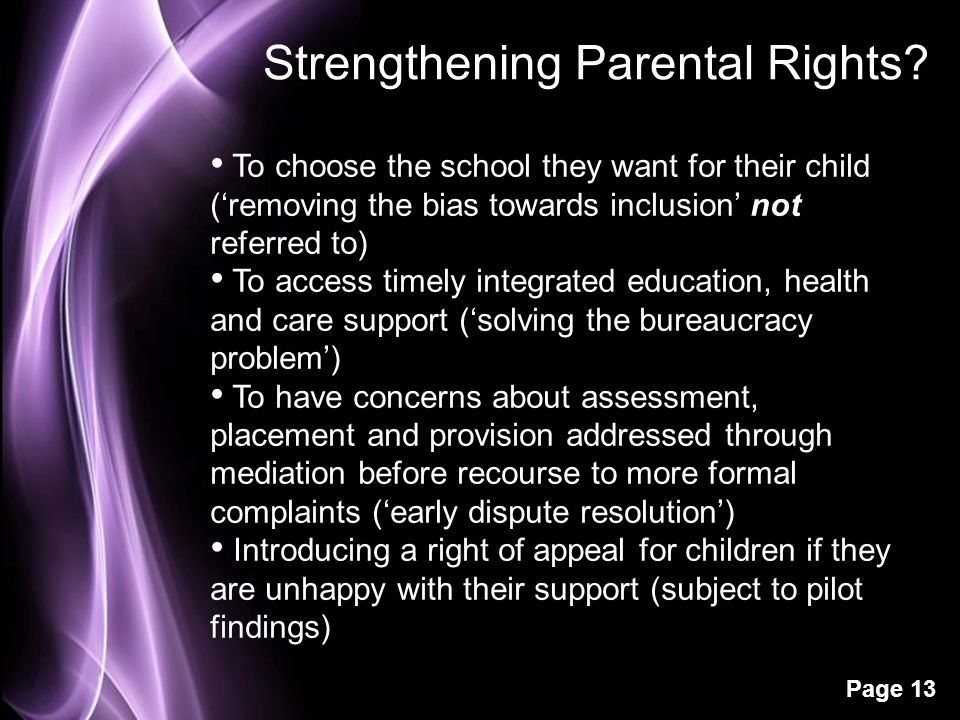 Strengthening Parental Rights