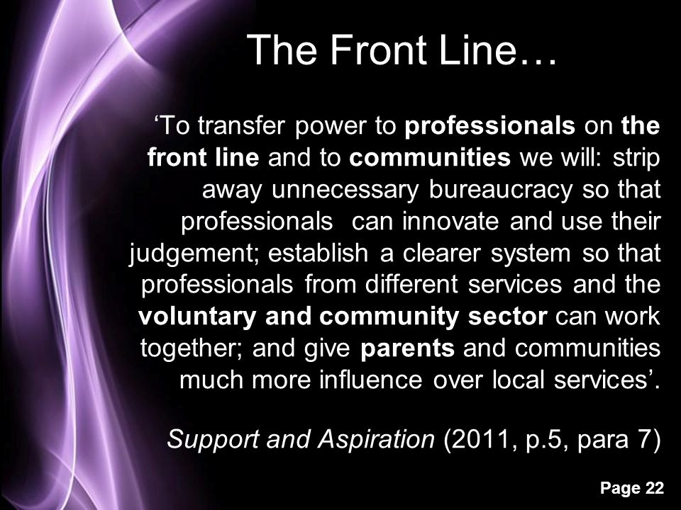 The Front Line…