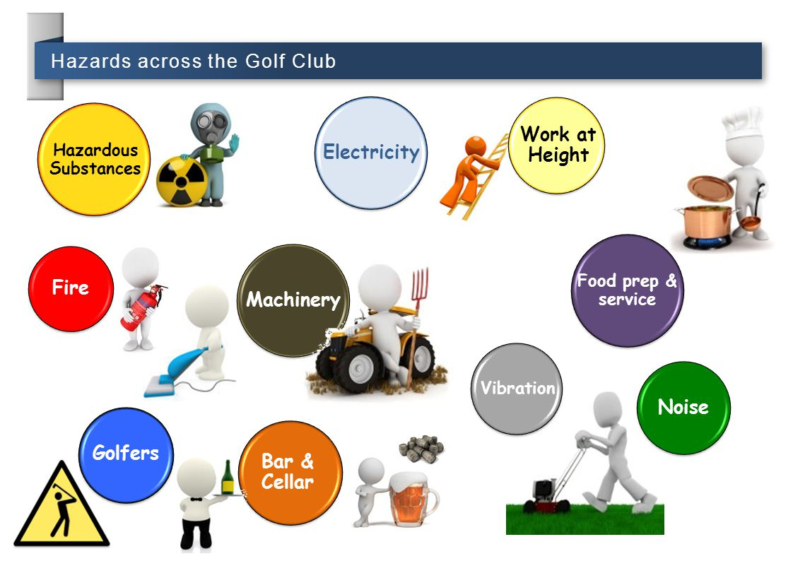 Electricity Work at Height Fire Machinery Noise Golfers Bar & Cellar