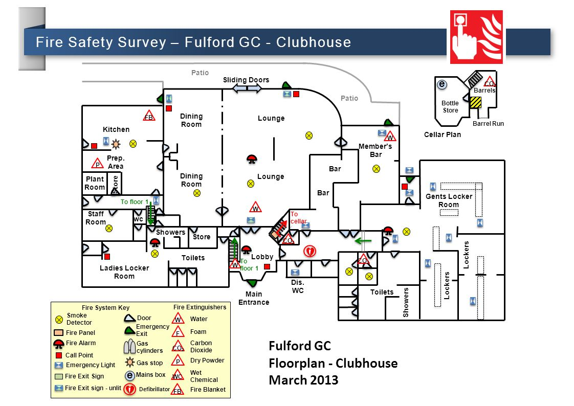 Fulford GC Floorplan - Clubhouse March 2013