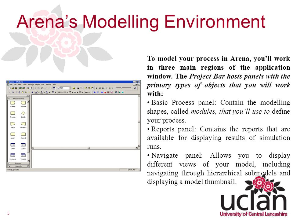 Arena's Modelling Environment