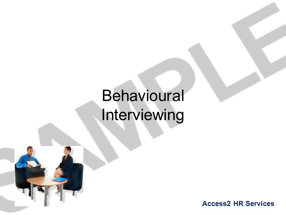 Behavioural Interviewing