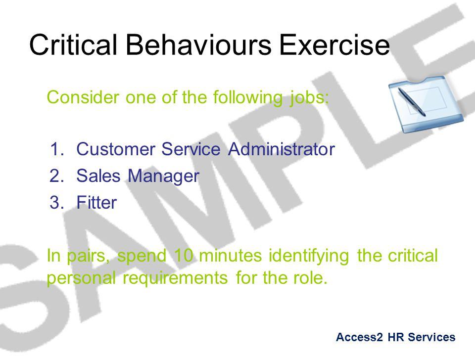 Critical Behaviours Exercise