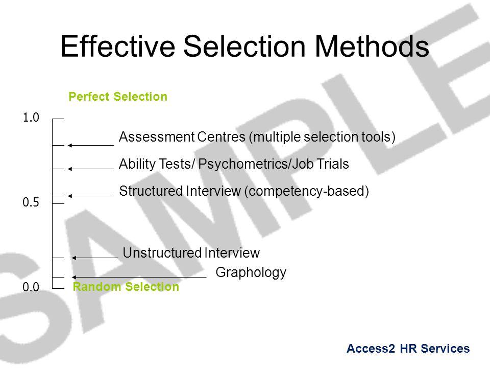 Effective Selection Methods