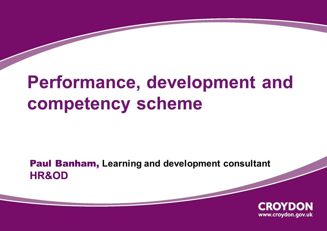 Performance, development and competency scheme