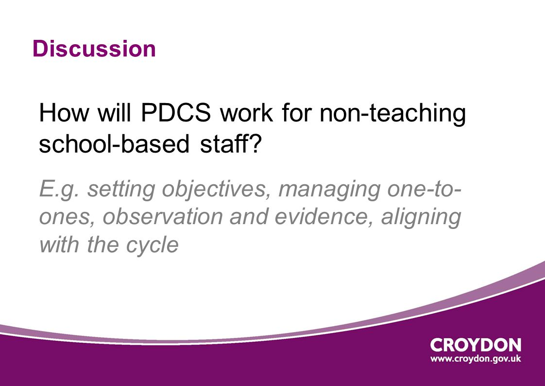 How will PDCS work for non-teaching school-based staff