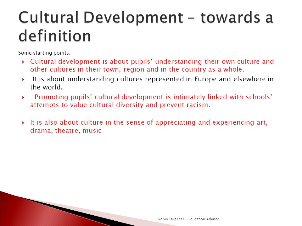 Cultural Development – towards a definition