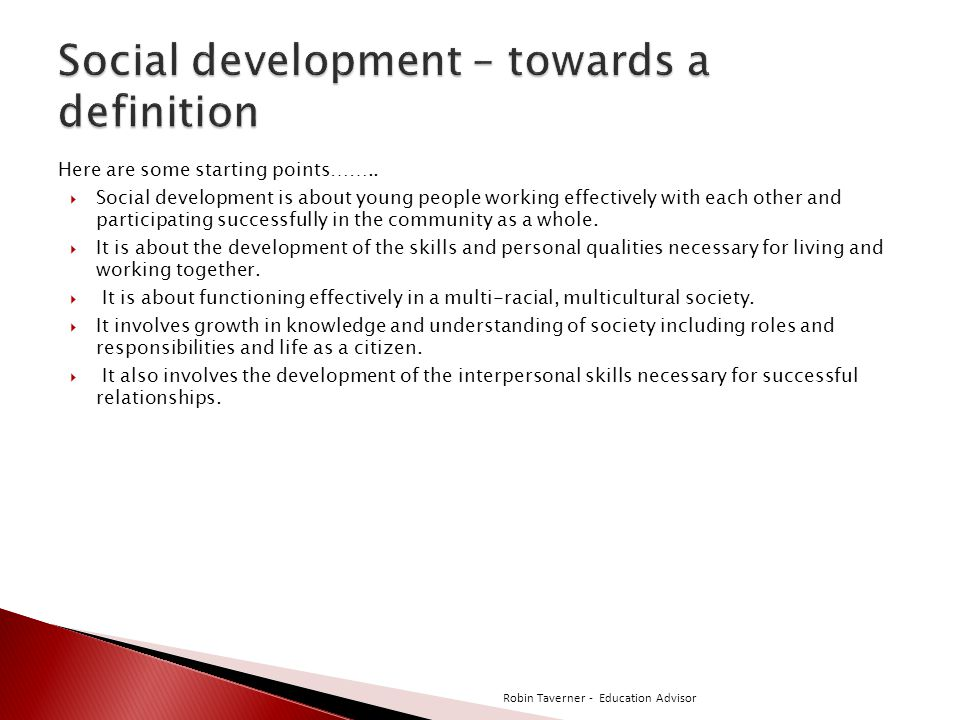 Social development – towards a definition