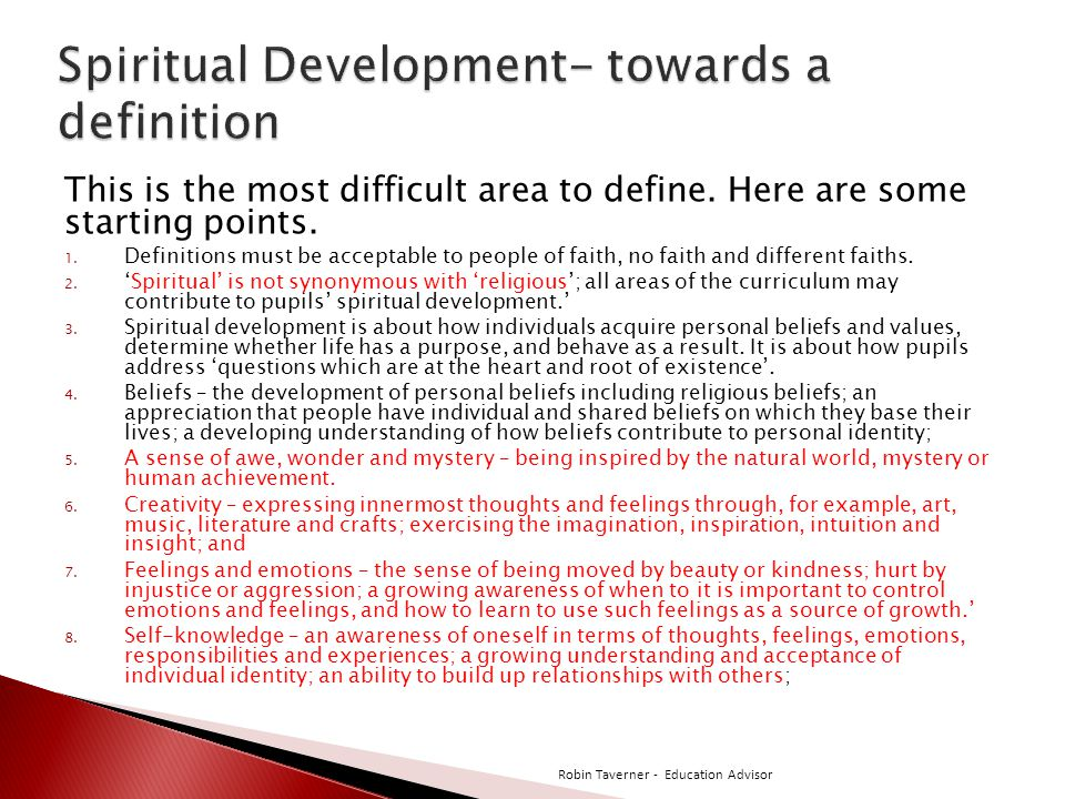 Spiritual Development- towards a definition