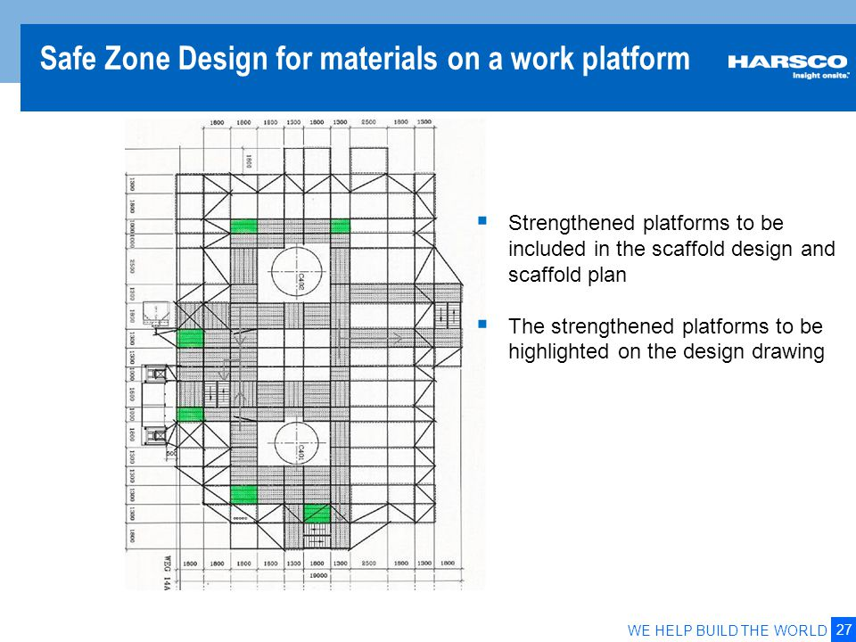 Material Storage Zone on Working Platform