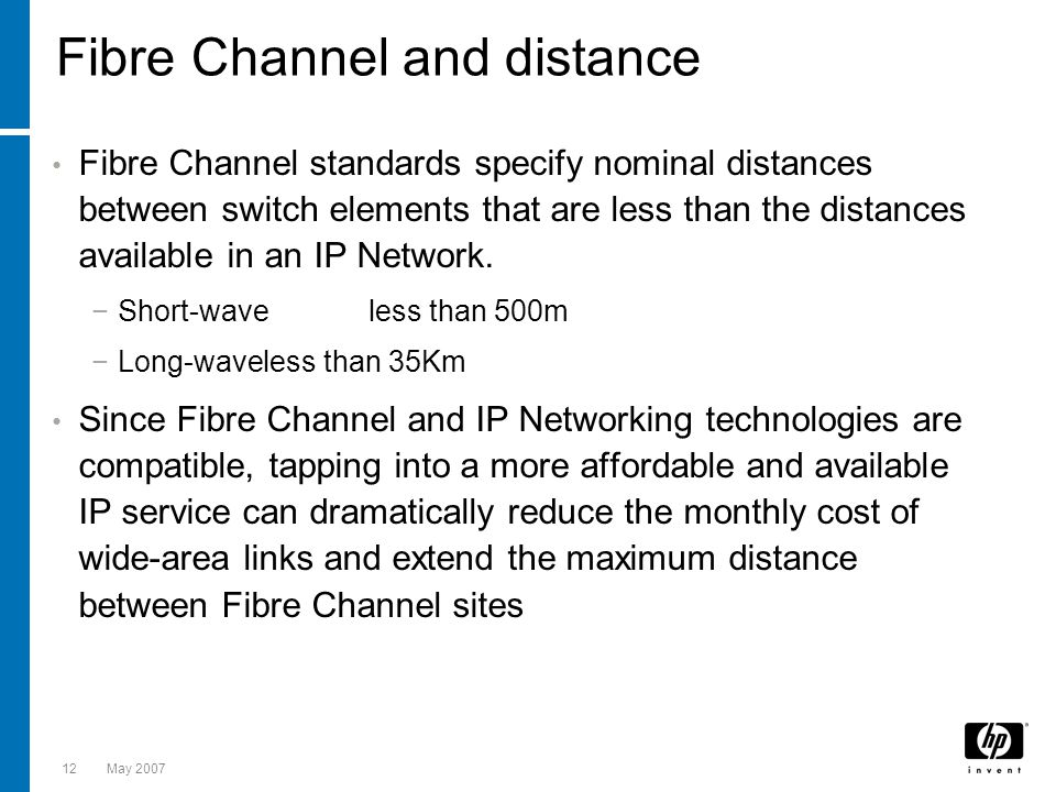 Fibre Channel and distance