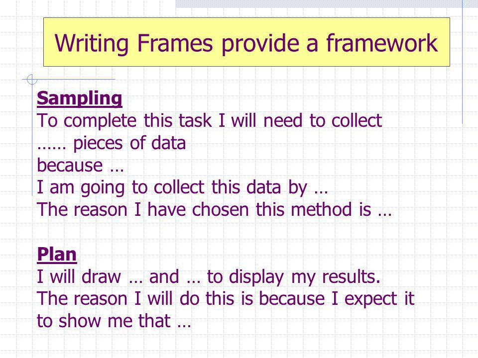 Writing Frames provide a framework