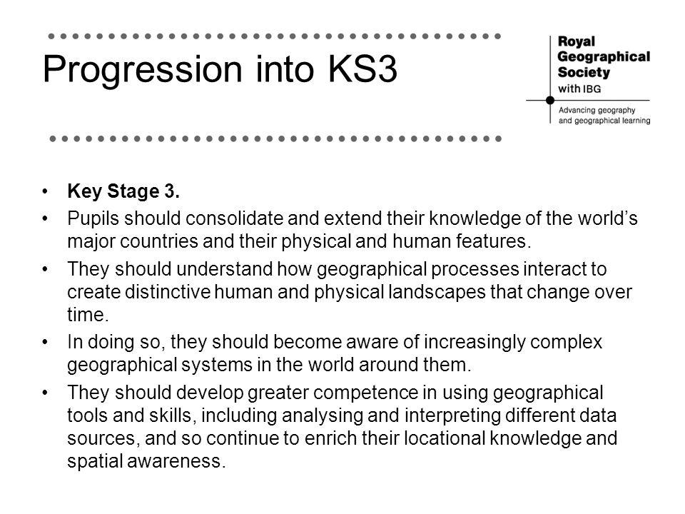 Progression into KS3 Key Stage 3.