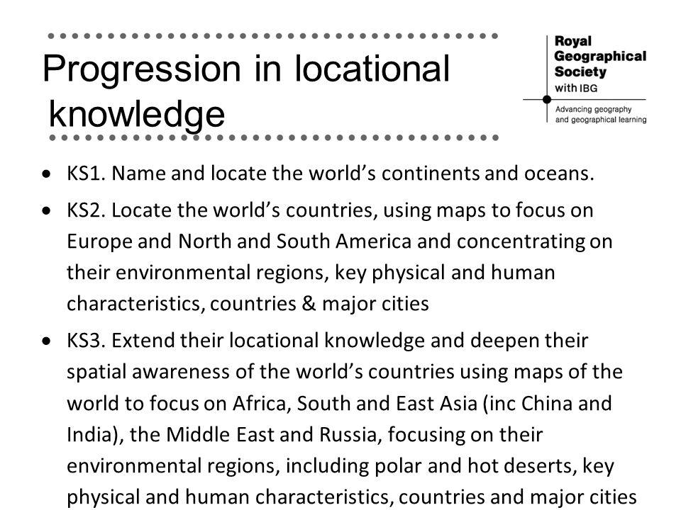 Progression in locational knowledge