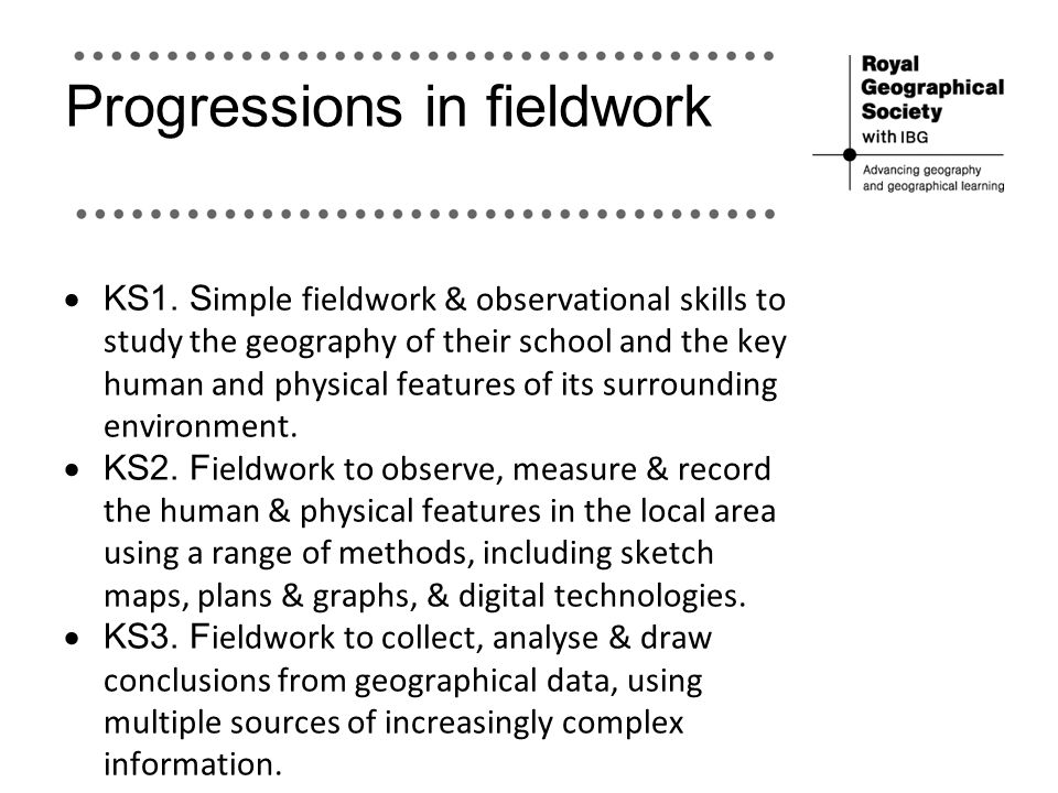 Progressions in fieldwork