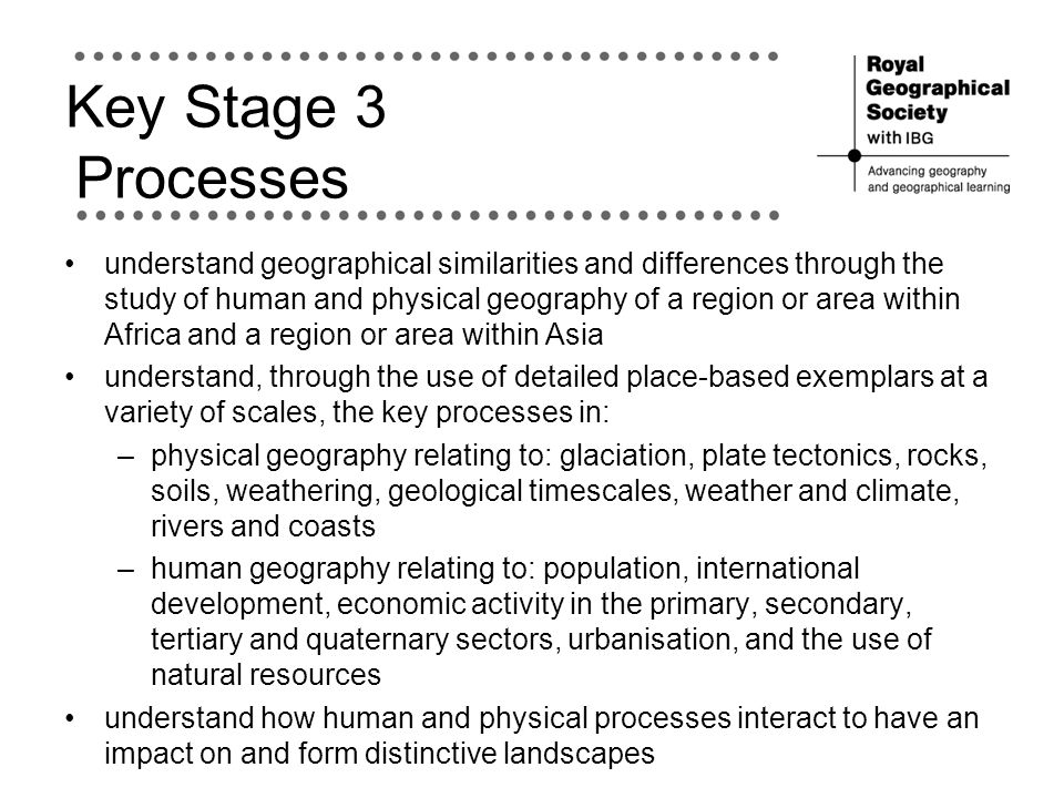 Key Stage 3 Processes