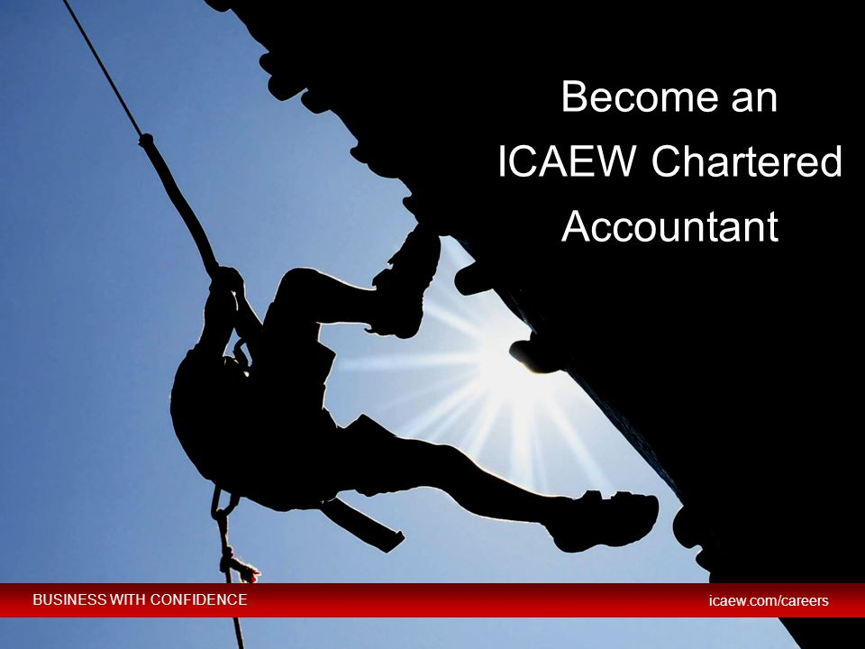 Become an ICAEW Chartered Accountant