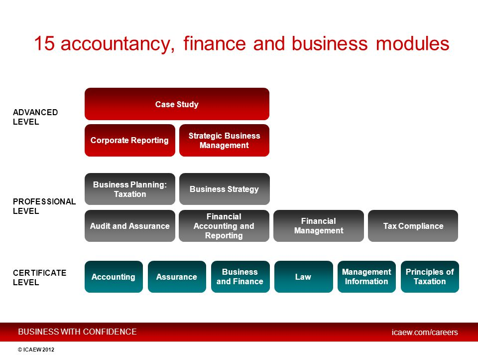 15 accountancy, finance and business modules