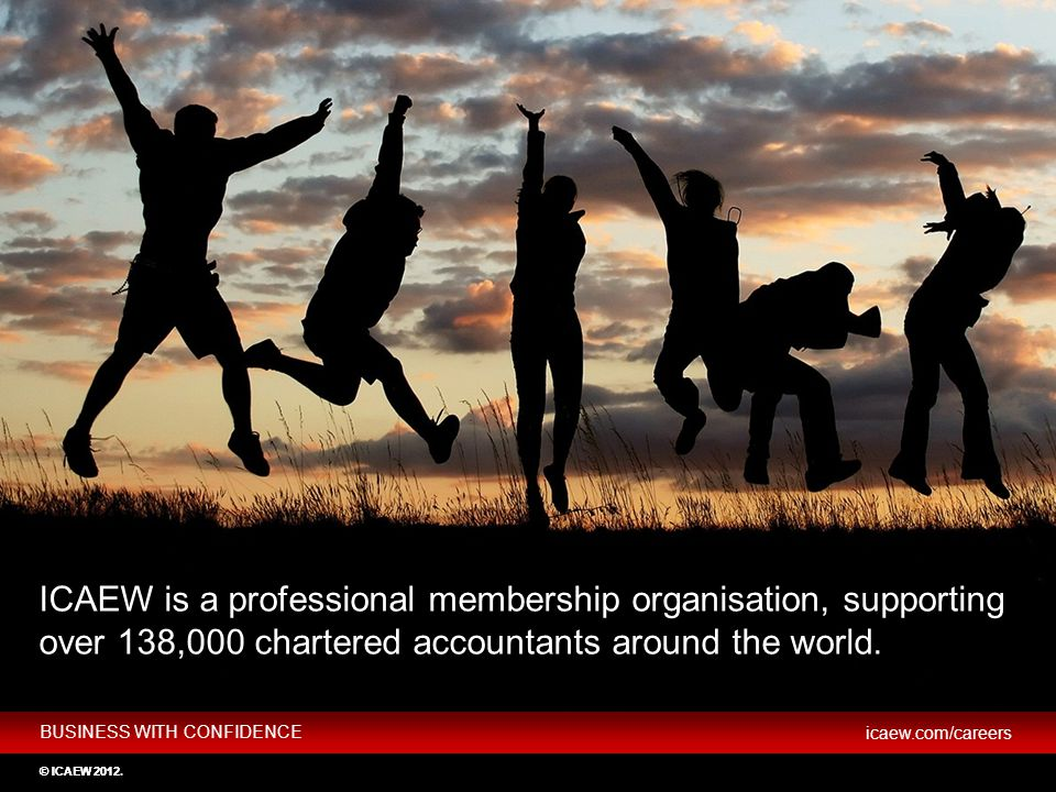 Key slide Key messages: ICAEW stands for the Institute of Chartered Accountants in England and Wales.