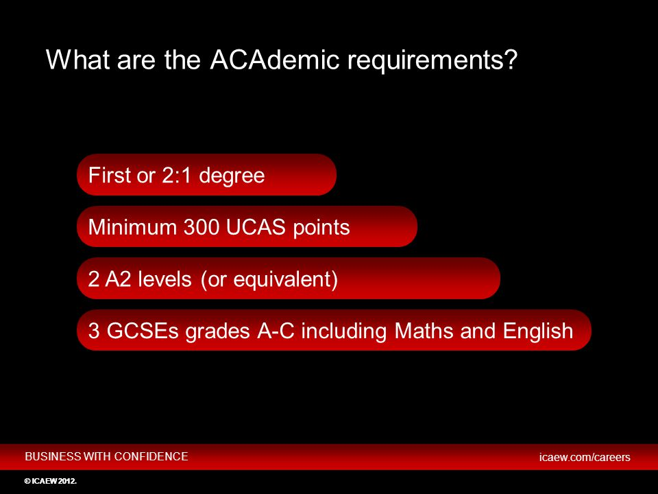 What are the ACAdemic requirements