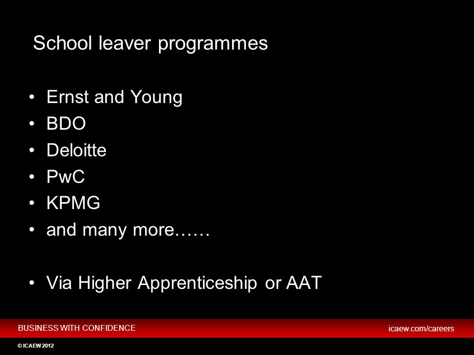 School leaver programmes