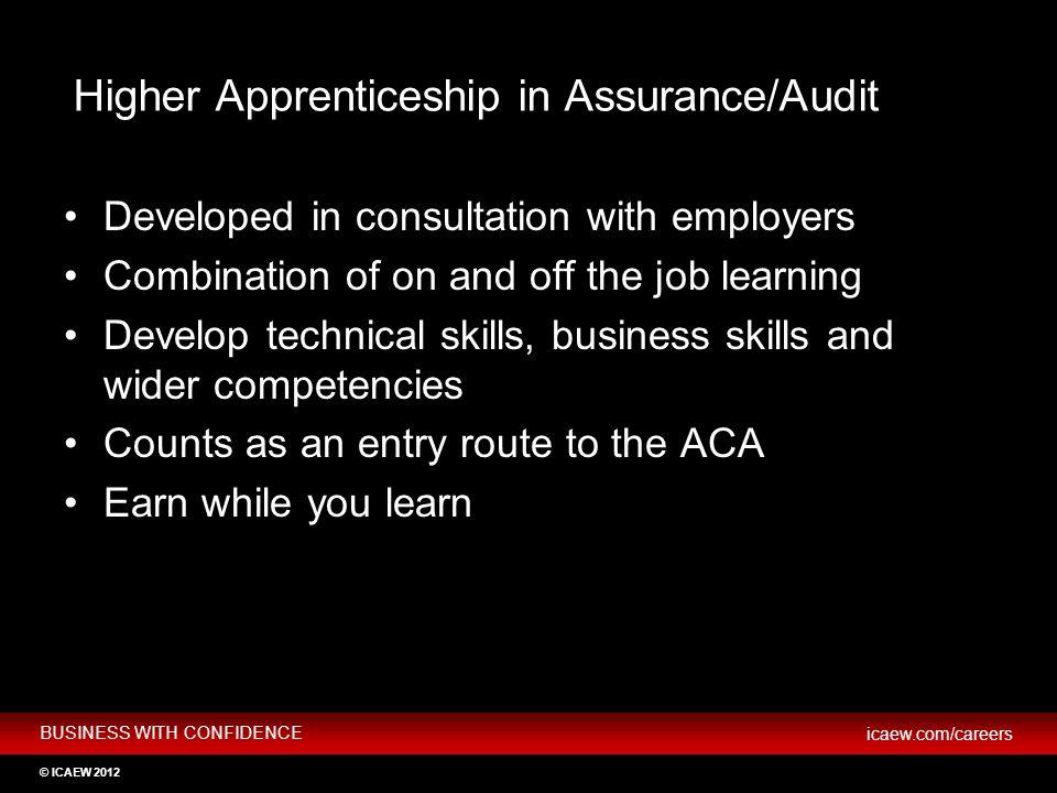 Higher Apprenticeship in Assurance/Audit