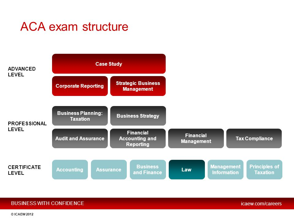 ACA exam structure Case Study ADVANCED LEVEL Corporate Reporting