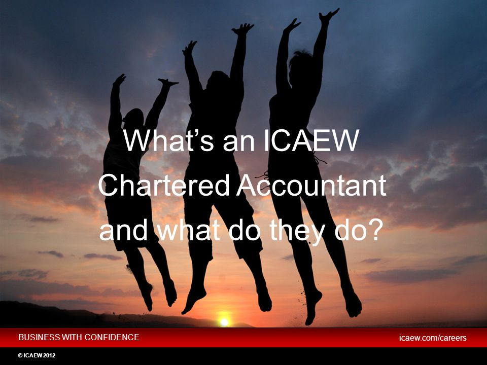 What's an ICAEW Chartered Accountant and what do they do