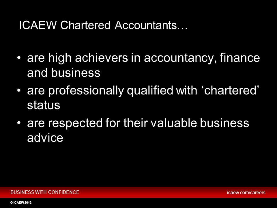 ICAEW Chartered Accountants…