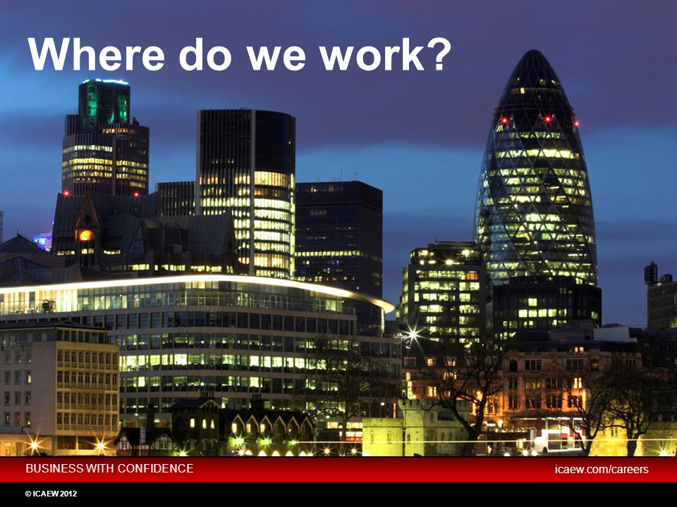 Where do we work Not for profit Industry Practice Key slide