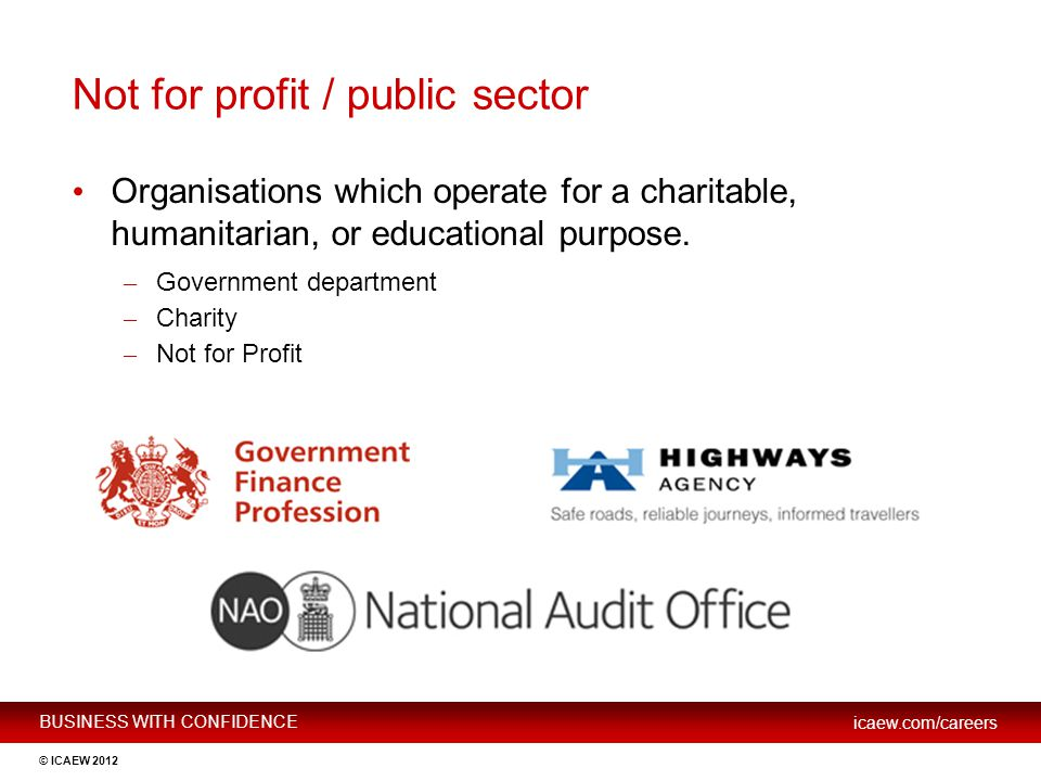 Not for profit / public sector