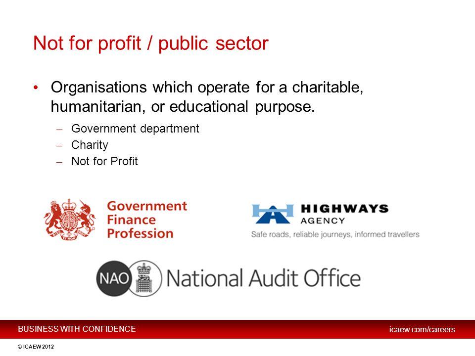 Not for profit / public sector