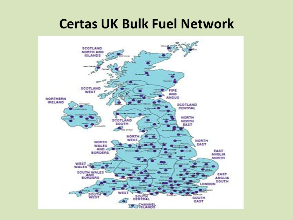 Certas UK Bulk Fuel Network