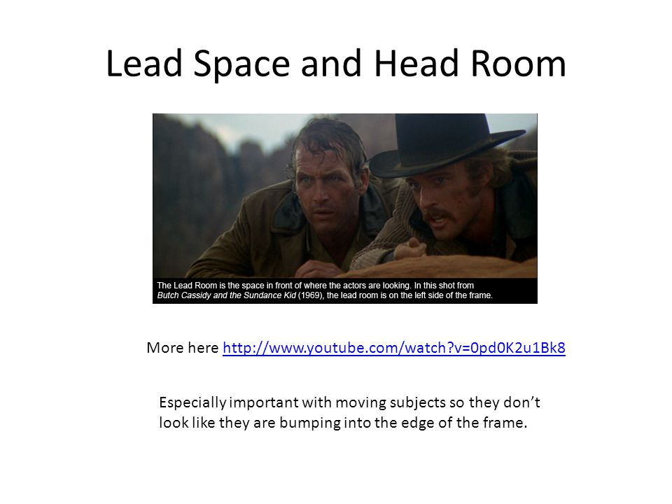 Lead Space and Head Room