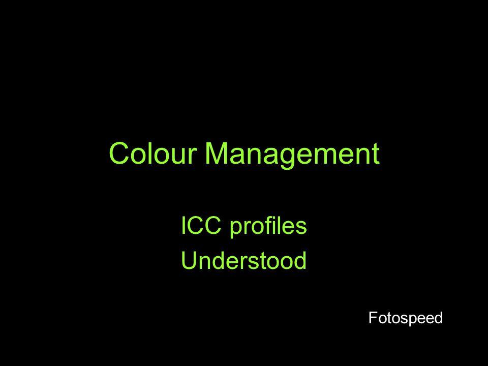 ICC profiles Understood