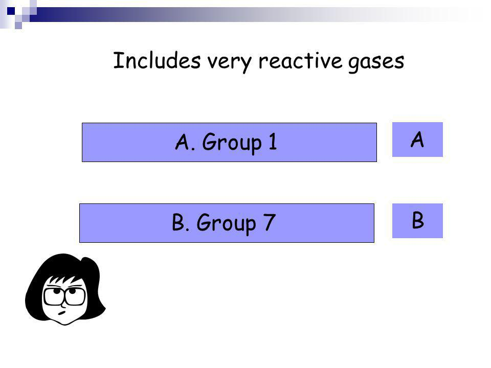 Includes very reactive gases