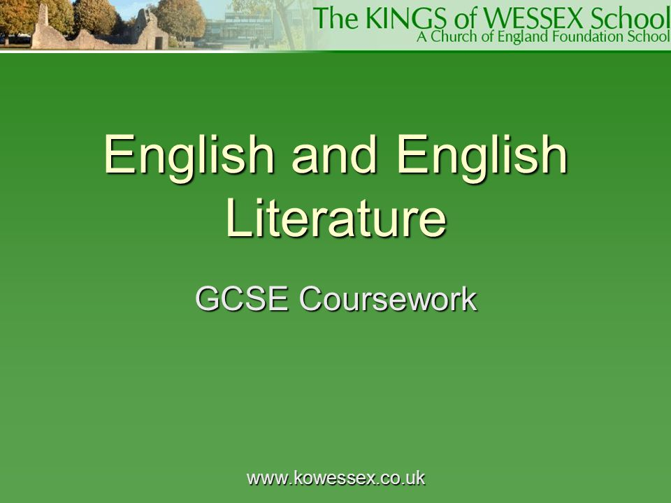 English and English Literature