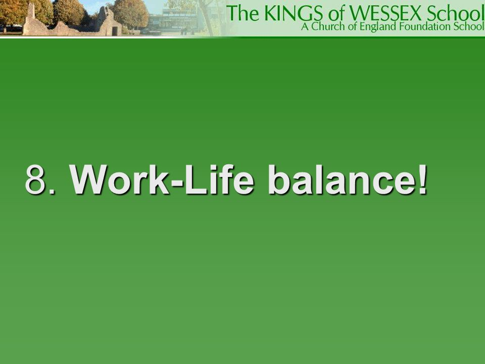 8. Work-Life balance! Allocate enough time, early enough and don't overdo it. Don't write 10 000 words when you are asked for 2 000.