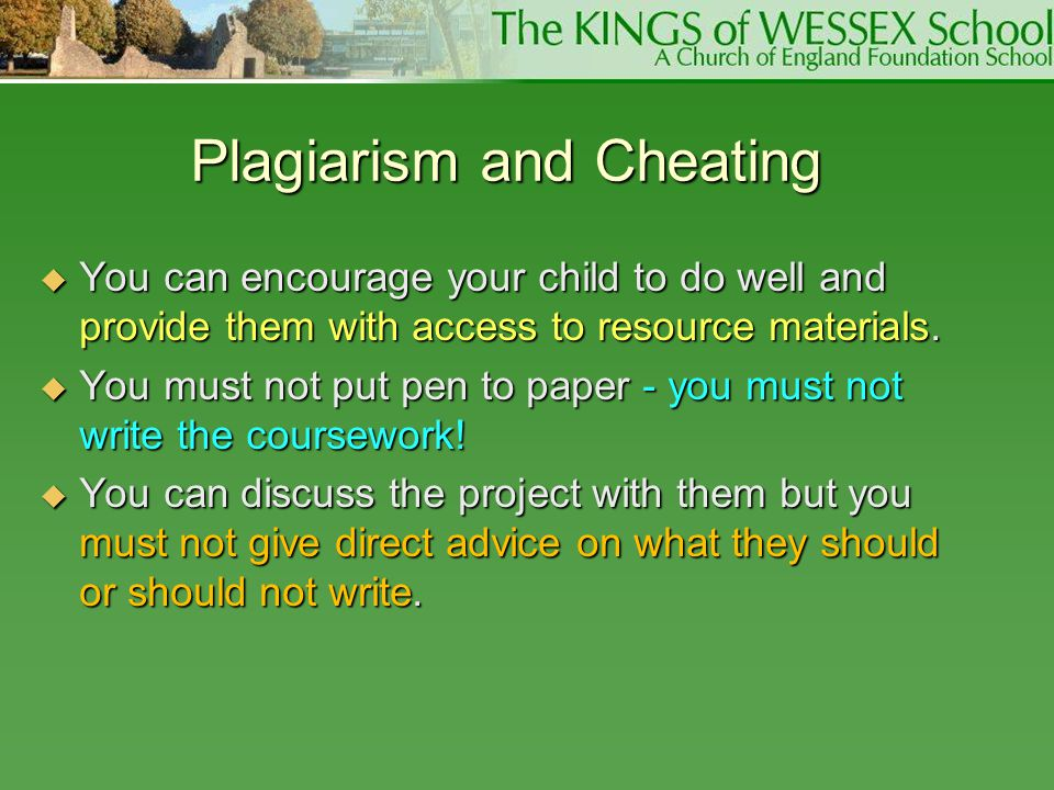 Plagiarism and Cheating