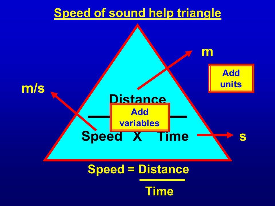 Speed of sound help triangle