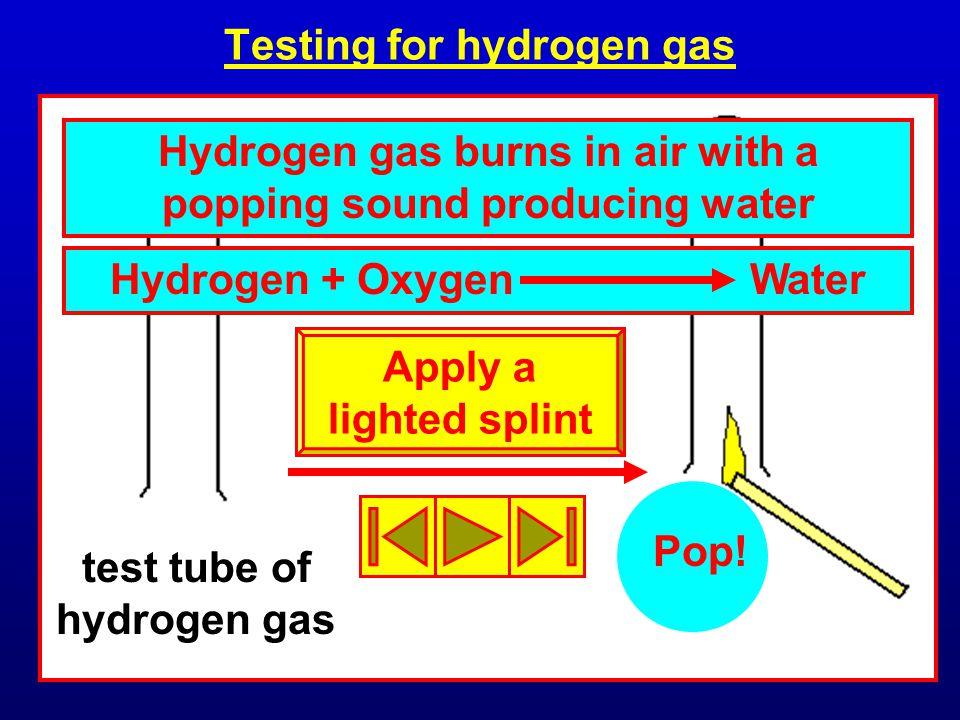 Testing for hydrogen gas