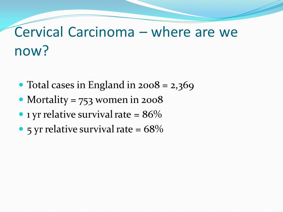 Cervical Carcinoma – where are we now