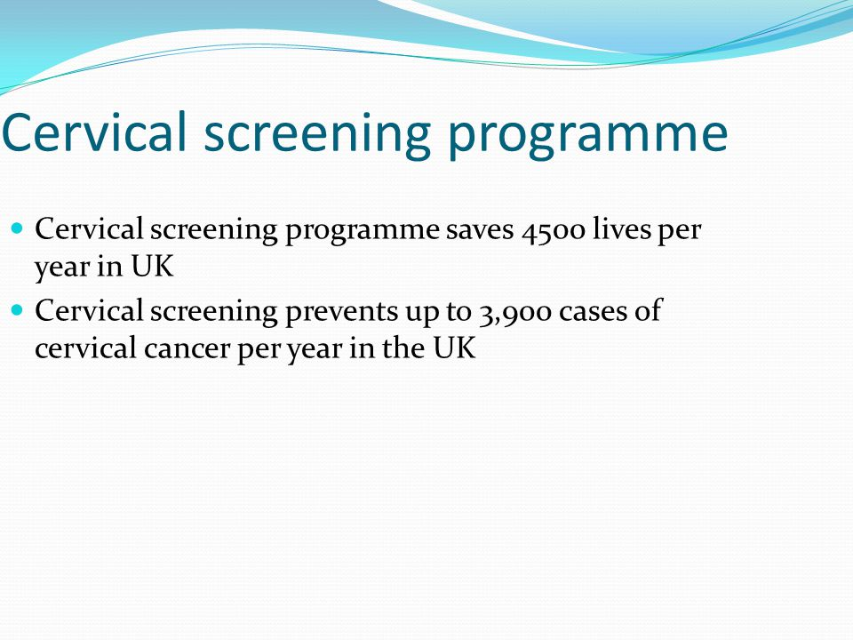 Cervical screening programme