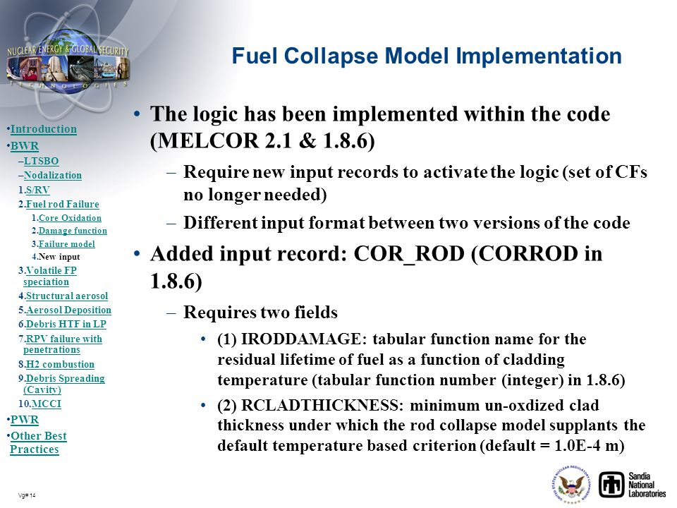 Fuel Collapse Model Implementation