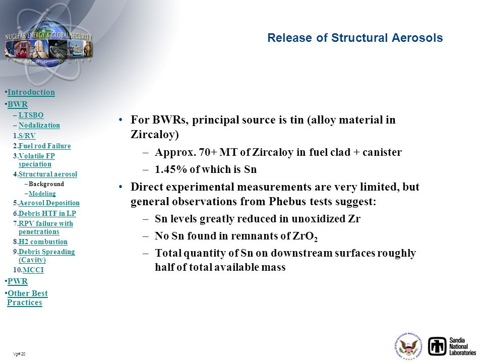 Release of Structural Aerosols