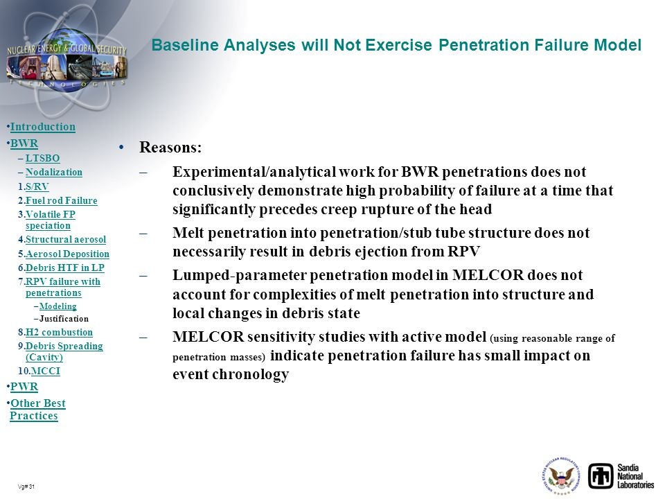 Baseline Analyses will Not Exercise Penetration Failure Model